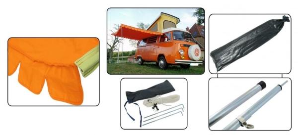 Camping Vorzelt orange | T1 | T2