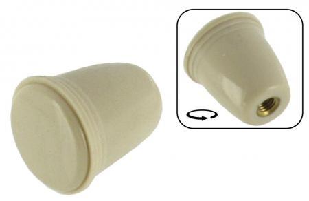 Knopf Lichtschalter / Choke / Aschenbecher cremeweiß
