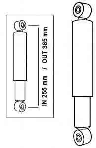 Stoßdämpfer Öldruck vorne | T1 hinten