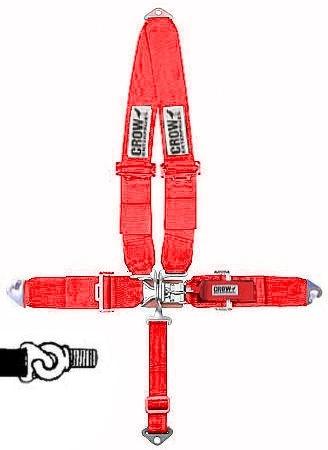 Sicherheitsgurt 5-Punkt-Gurt rot