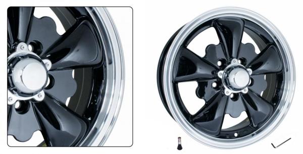 Felge GT-5 schwarz / poliert