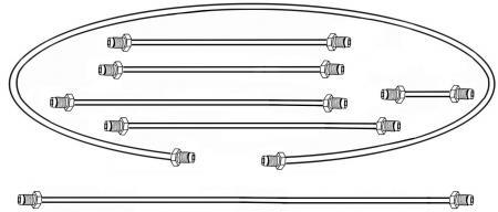 Bremsleitungssatz Einkreisbremse | T1 1/57»