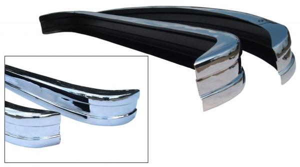 Stoßstangen Set vorne / hinten Edelstahl poliert | T2