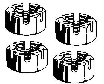 Kronenmutter Spurstange M12x1.5 | T2 | T3