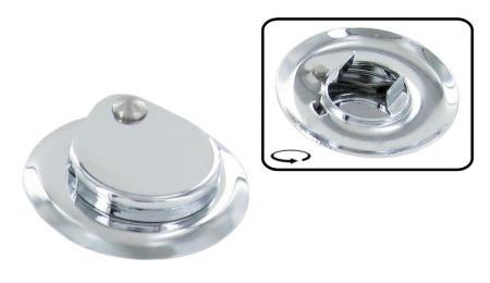 Rosette Motorklappenschloß Chrom | T1 »7/65