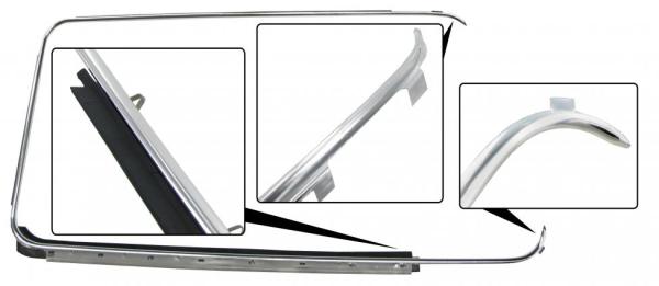 Fensterdichtung Tür rechts außen mit Zierleiste   T2
