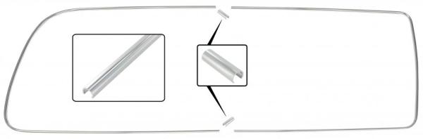 Zierleiste Seitenfenster hinten ohne Drehfenster rechts | T2 »7/71