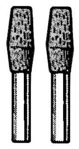 Türsicherungsknopf schwarz / Chrom | T2 »7/68+8/73» | T3
