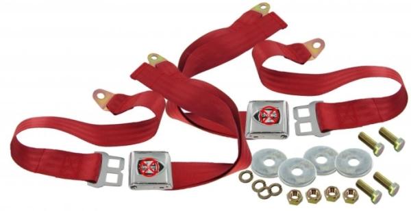 Sicherheitsgurt 2-Punkt-Gurt rot Wolfsburg Emblem