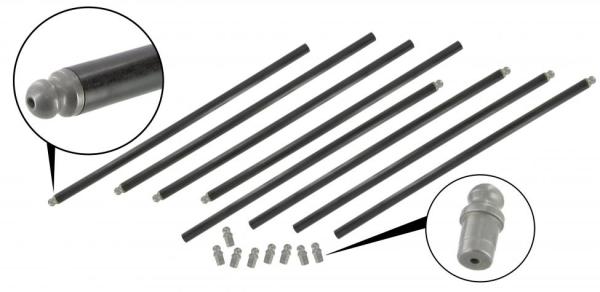 Stößelstangen ungeschnitten Chrommolybdän verstärkt | T1 | T2 | T3 WBX