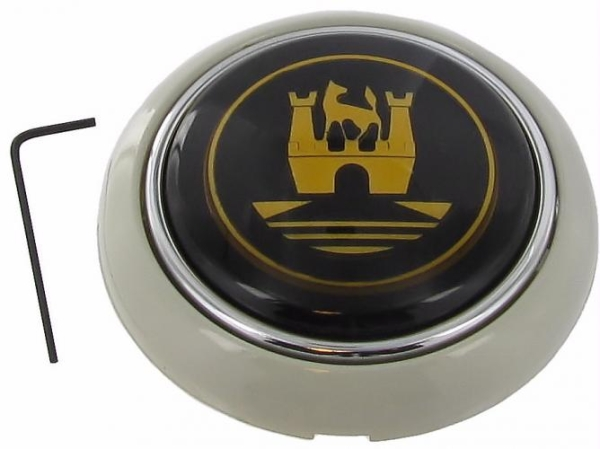 Hupenknopf schwarz / grau / gold | T1