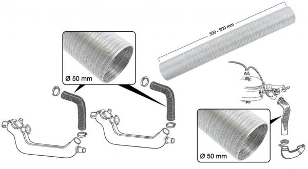 Heizschlauch Aluminium | T1 1/63» | T2
