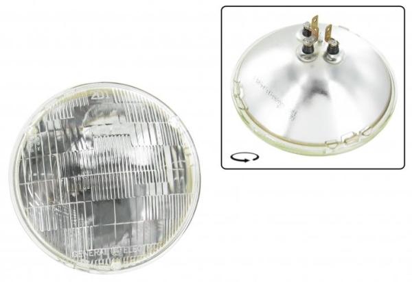 Scheinwerfereinsatz Sealed-Beam 6V 50-40W